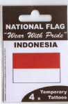 Indonesia Country Flag Tattoos.